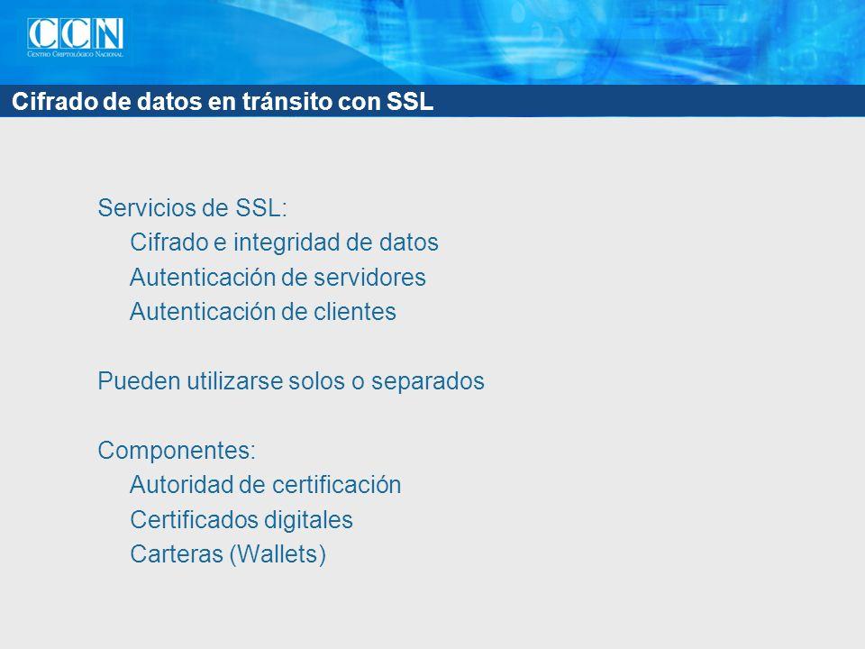 Cifrado de datos en tránsito con SSL