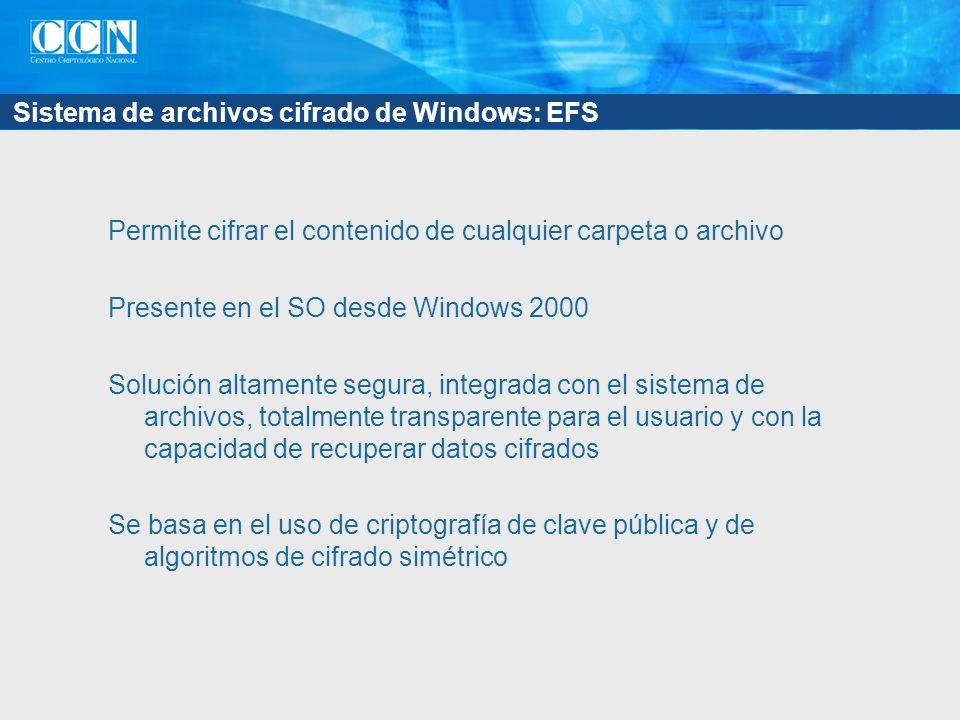 Sistema de archivos cifrado de Windows: EFS