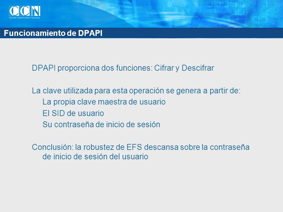 Funcionamiento de DPAPI