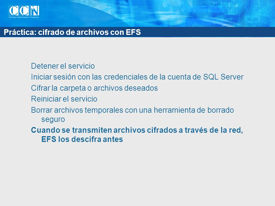 Práctica: cifrado de archivos con EFS