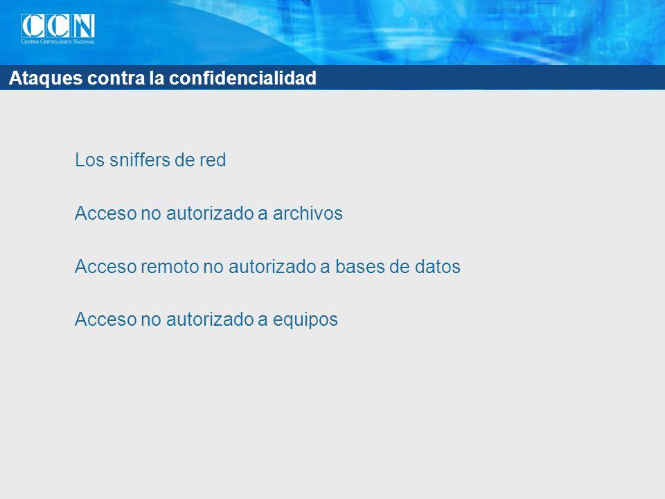 Ataques contra la confidencialidad