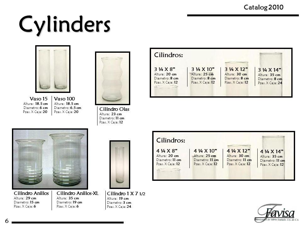 Cylinders Catalog 2010 Cilindros: Cilindros: 6 Vaso 15 Vaso 100