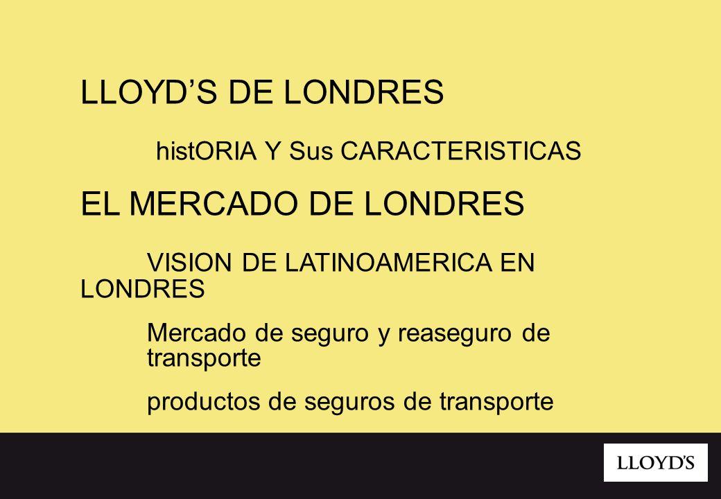 histORIA Y Sus CARACTERISTICAS EL MERCADO DE LONDRES