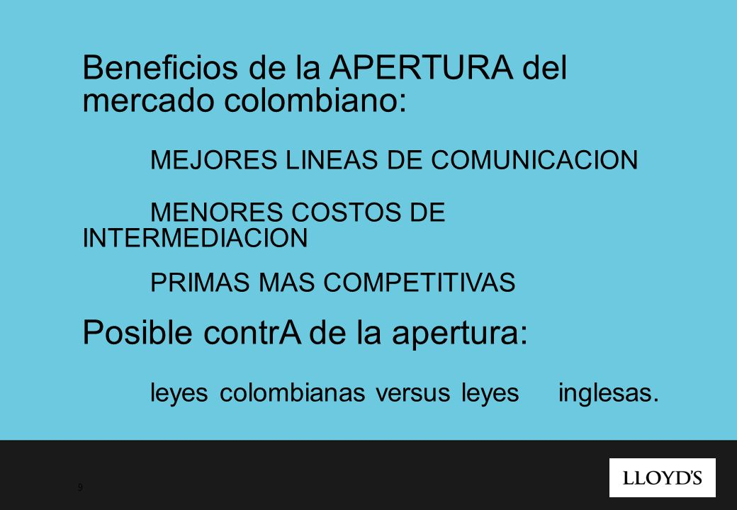 Beneficios de la APERTURA del mercado colombiano: