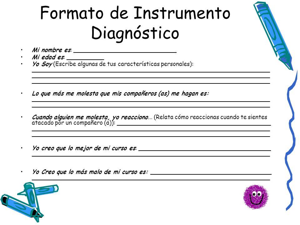 Formato de Instrumento Diagnóstico