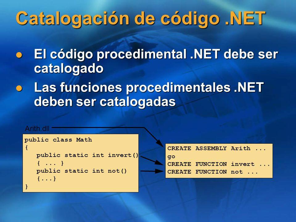 Catalogación de código .NET