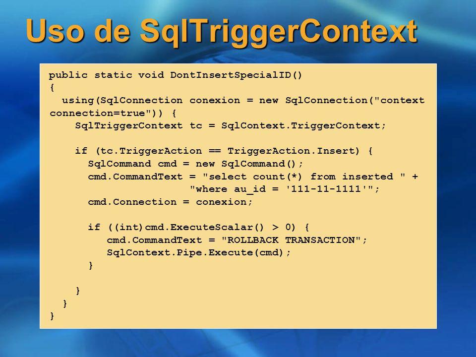 Uso de SqlTriggerContext