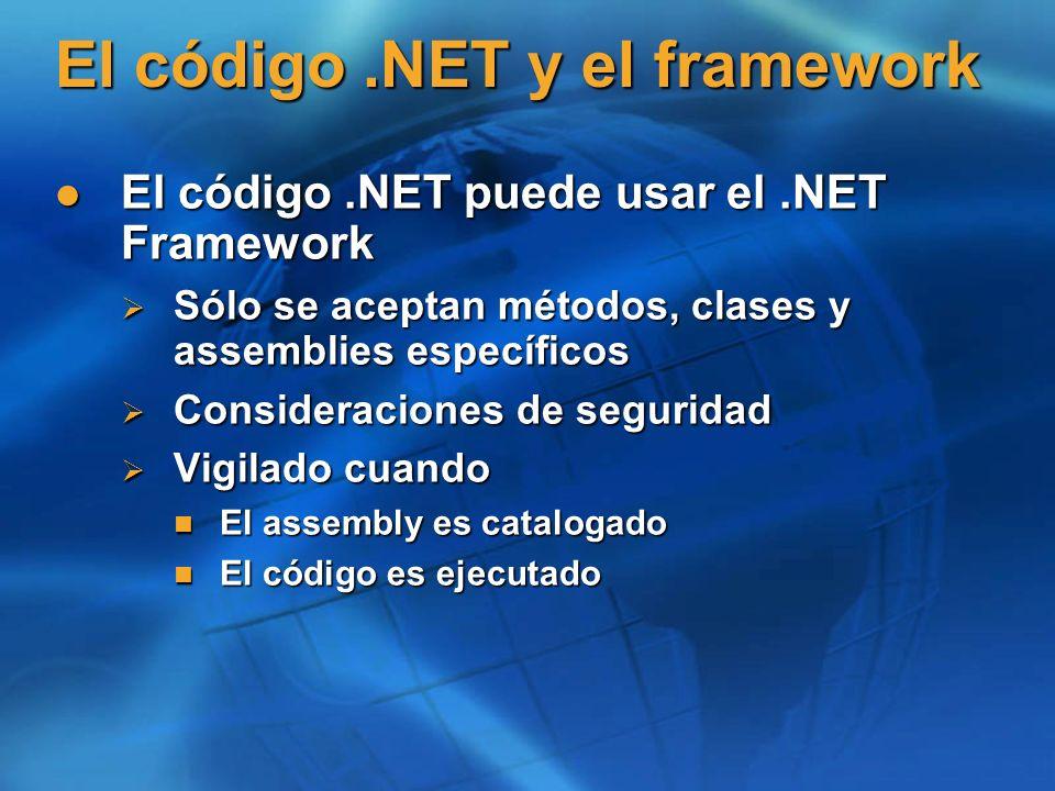 El código .NET y el framework