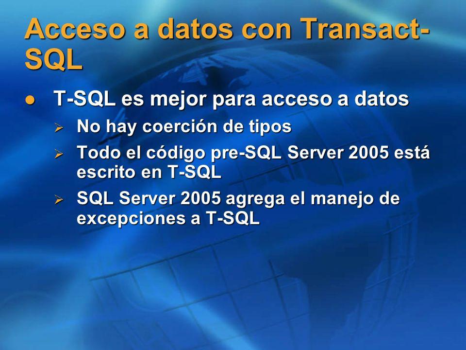 Acceso a datos con Transact-SQL