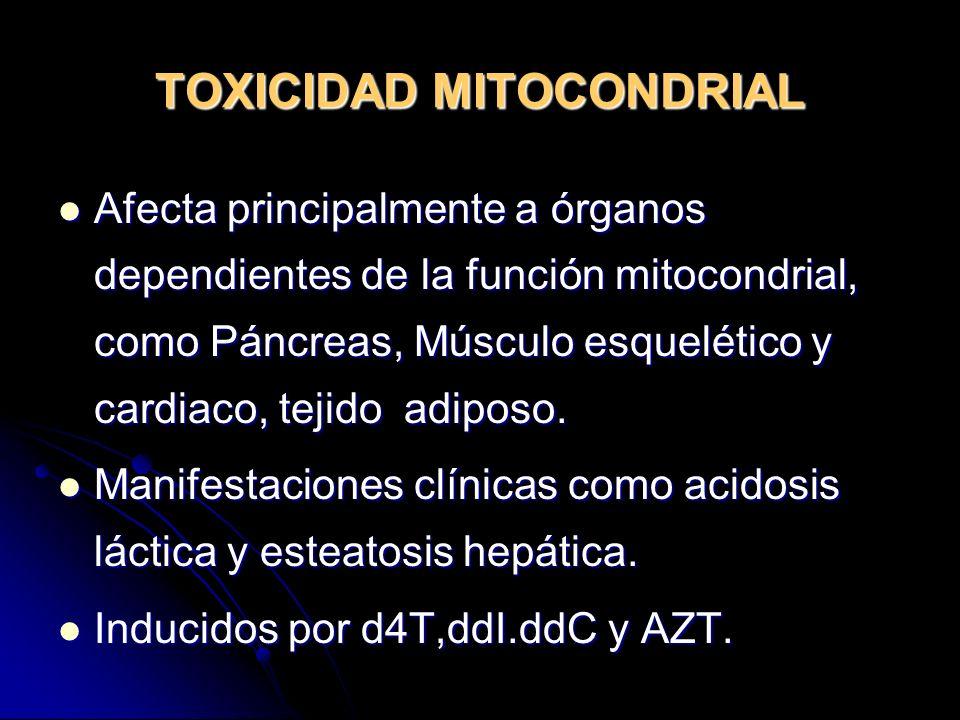 TOXICIDAD MITOCONDRIAL