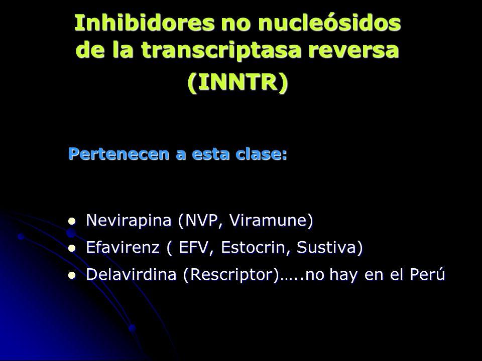 Inhibidores no nucleósidos de la transcriptasa reversa (INNTR)
