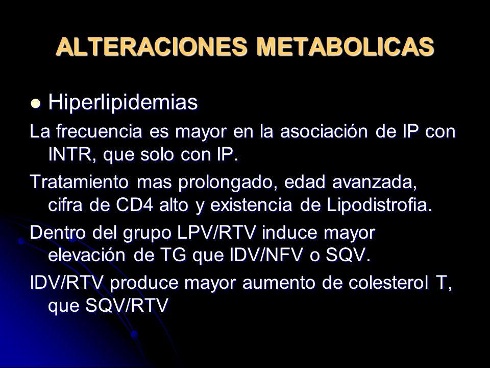 ALTERACIONES METABOLICAS