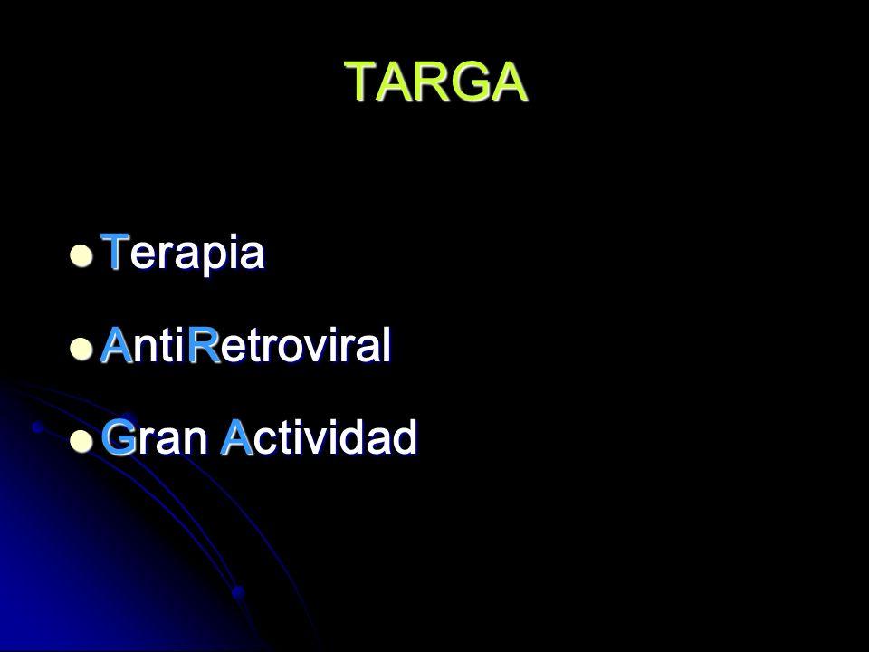 TARGA Terapia AntiRetroviral Gran Actividad