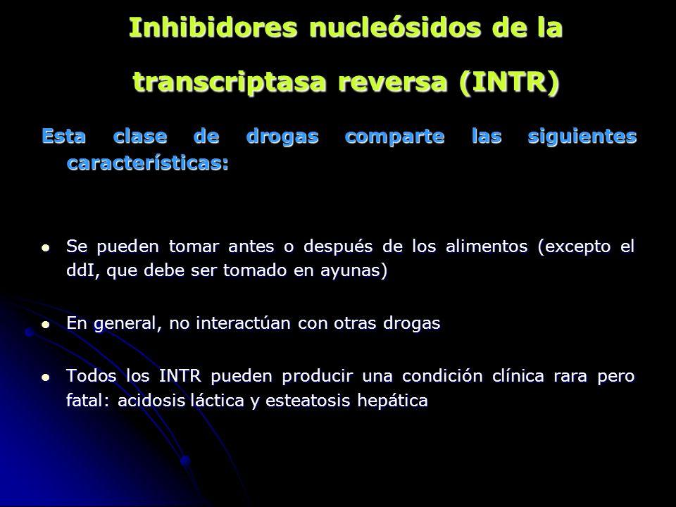 Inhibidores nucleósidos de la transcriptasa reversa (INTR)