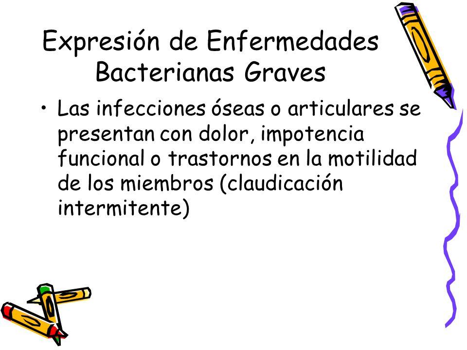 Expresión de Enfermedades Bacterianas Graves