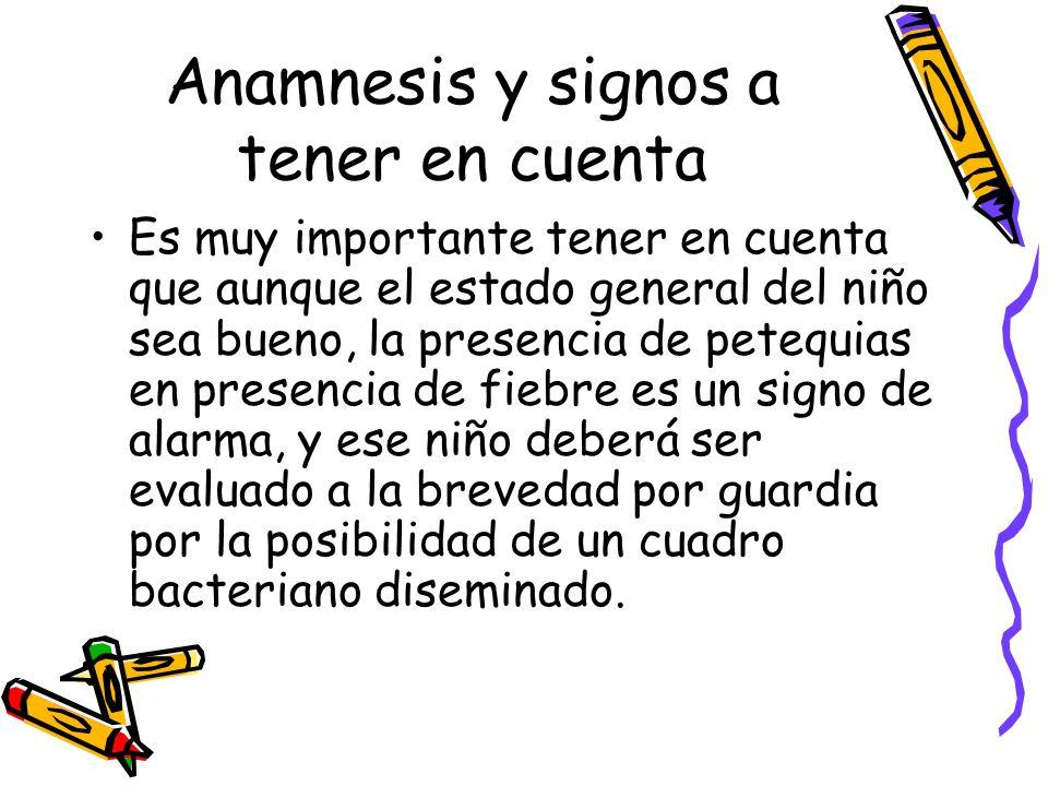 Anamnesis y signos a tener en cuenta