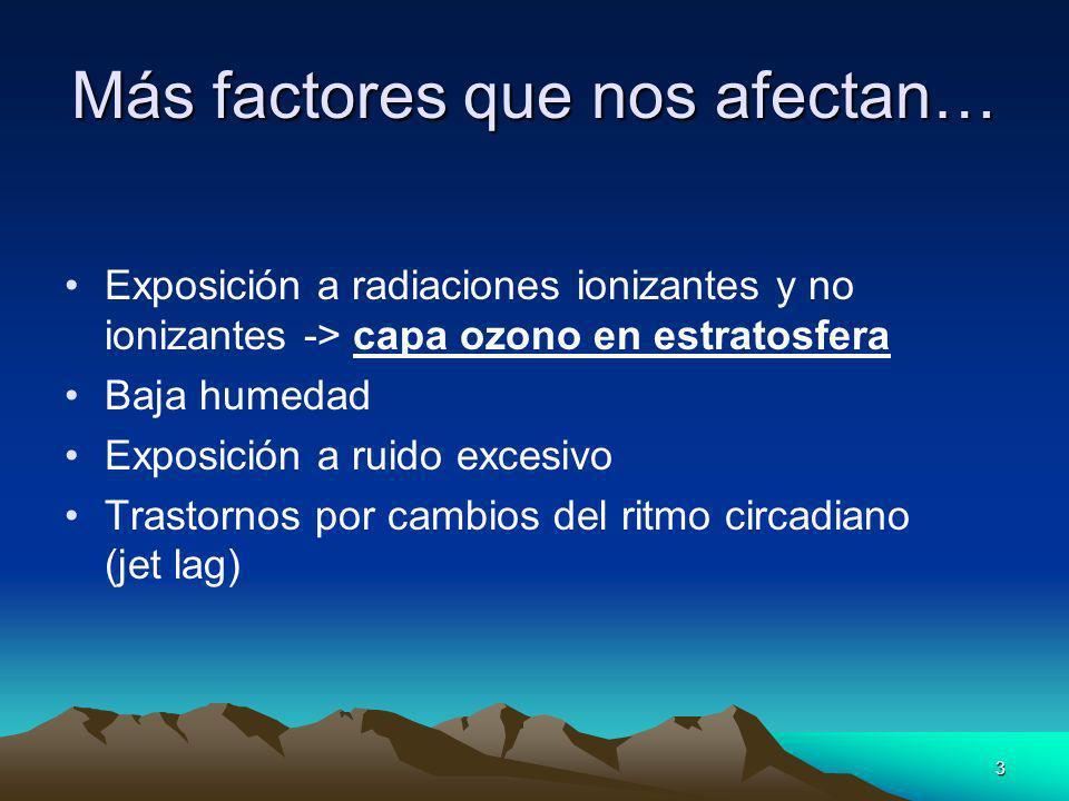 Más factores que nos afectan…