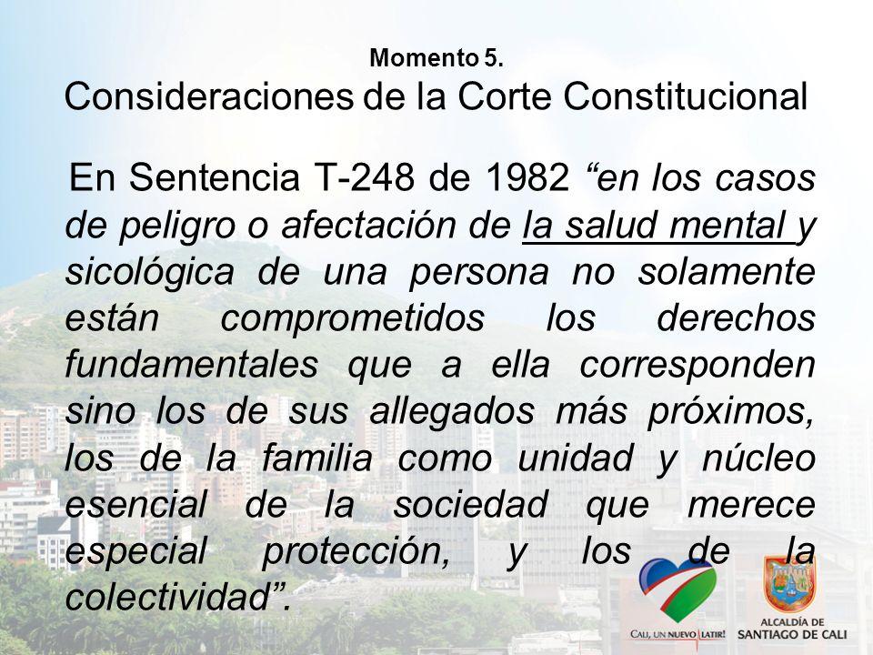 Momento 5. Consideraciones de la Corte Constitucional