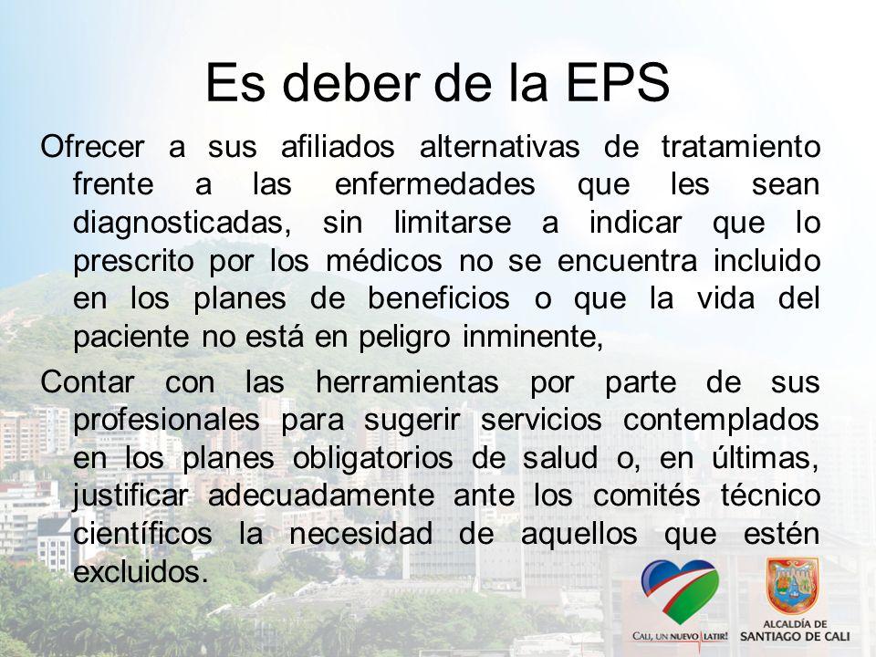 Es deber de la EPS