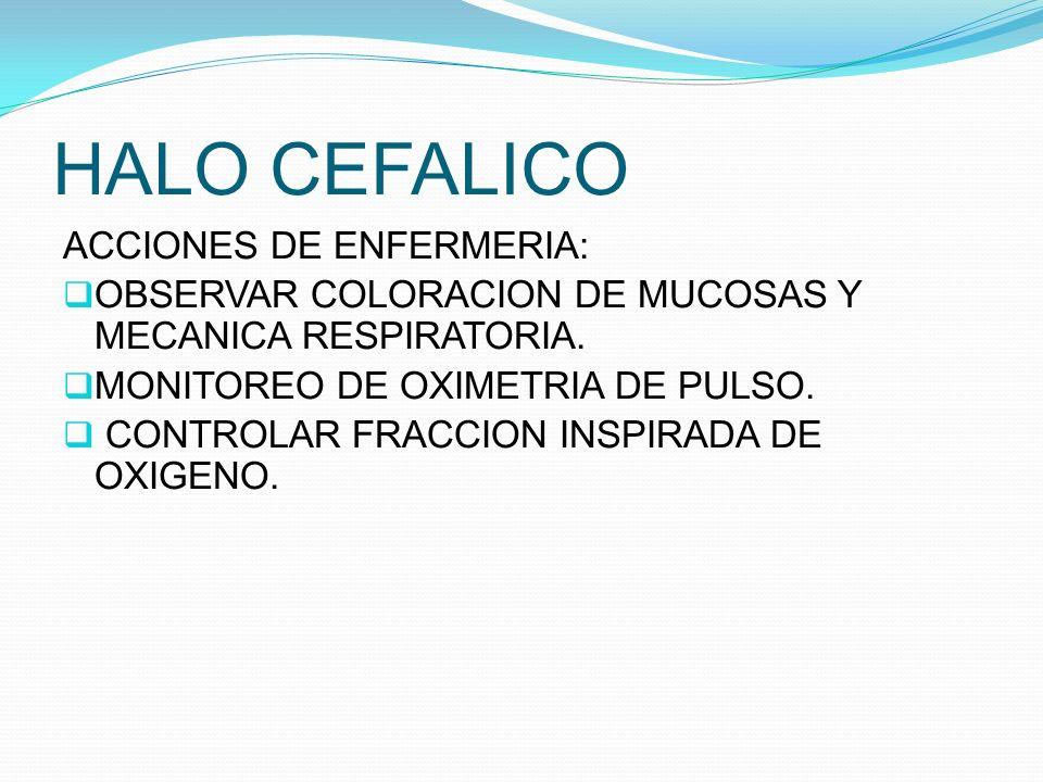 HALO CEFALICO ACCIONES DE ENFERMERIA:
