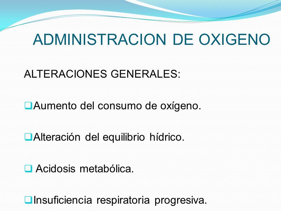 ADMINISTRACION DE OXIGENO