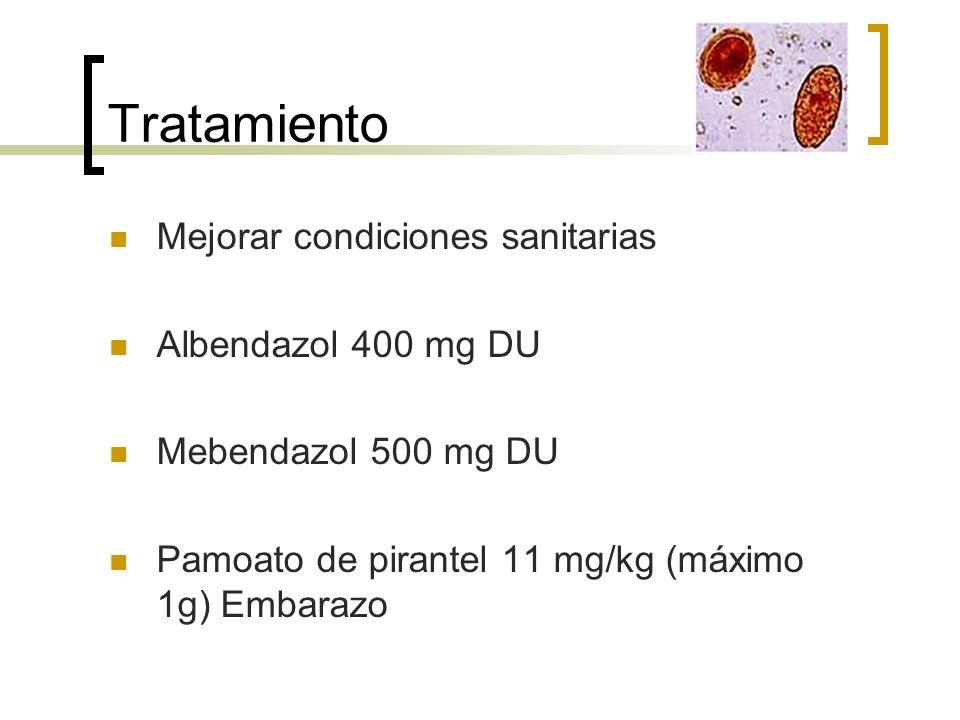 Tratamiento Mejorar condiciones sanitarias Albendazol 400 mg DU