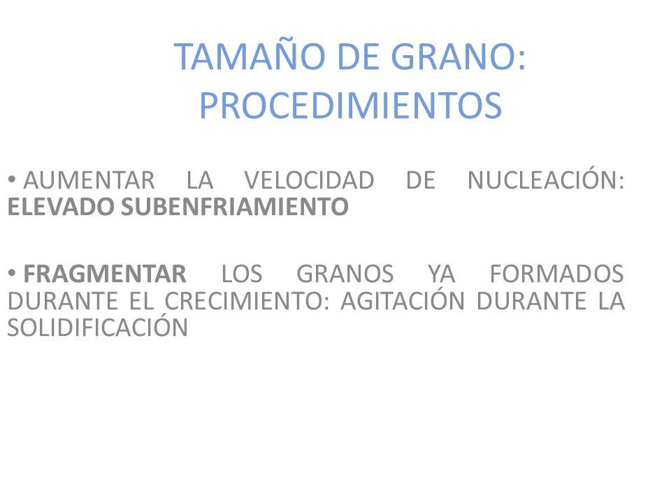 TAMAÑO DE GRANO: PROCEDIMIENTOS