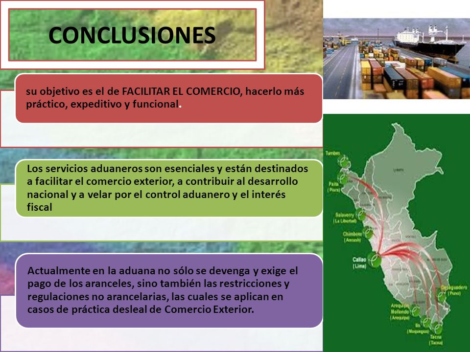 CONCLUSIONES su objetivo es el de FACILITAR EL COMERCIO, hacerlo más práctico, expeditivo y funcional.