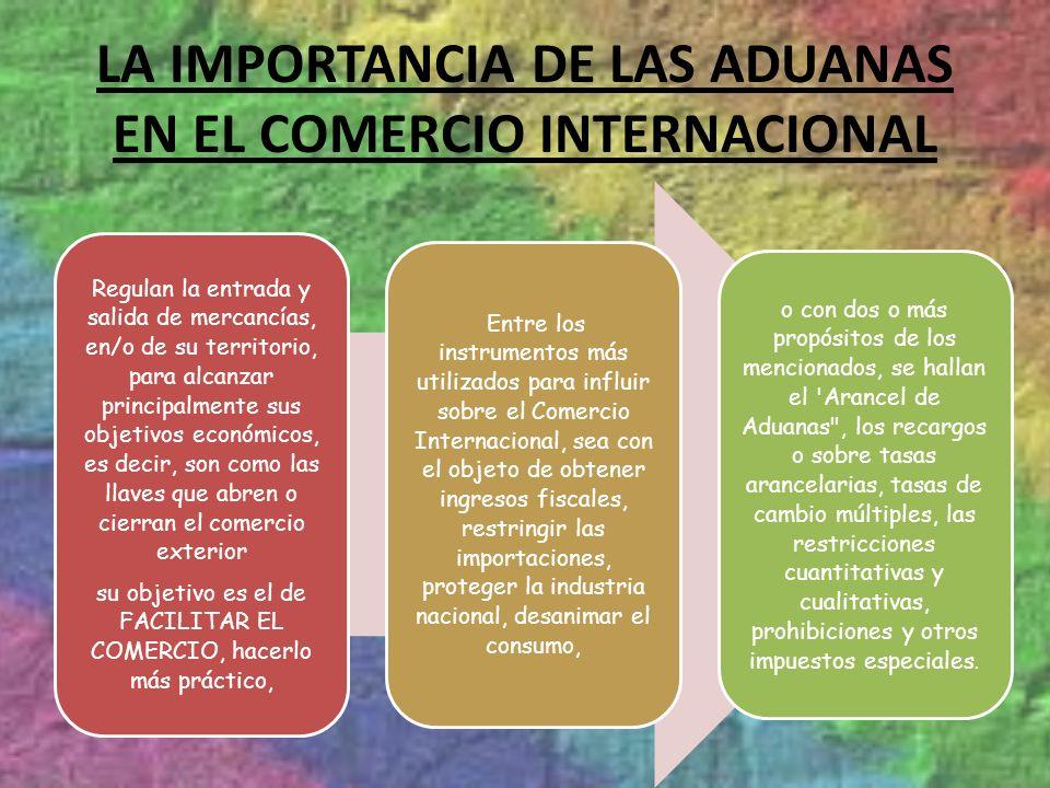 LA IMPORTANCIA DE LAS ADUANAS EN EL COMERCIO INTERNACIONAL