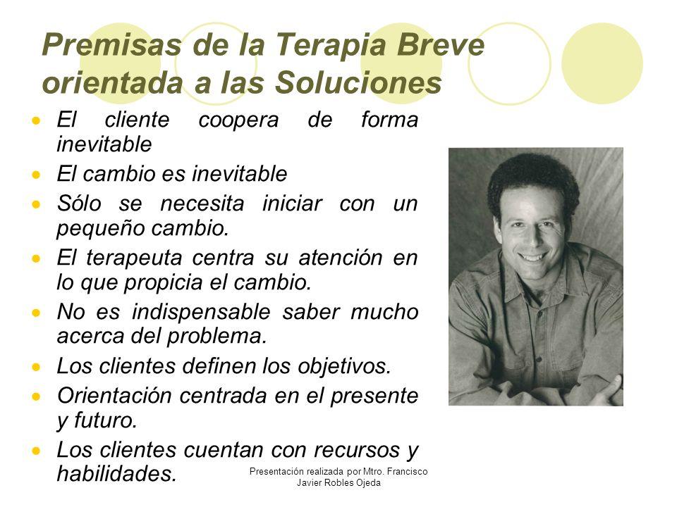 Premisas de la Terapia Breve orientada a las Soluciones