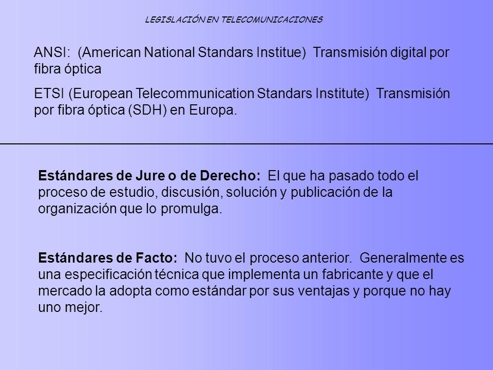 LEGISLACIÓN EN TELECOMUNICACIONES