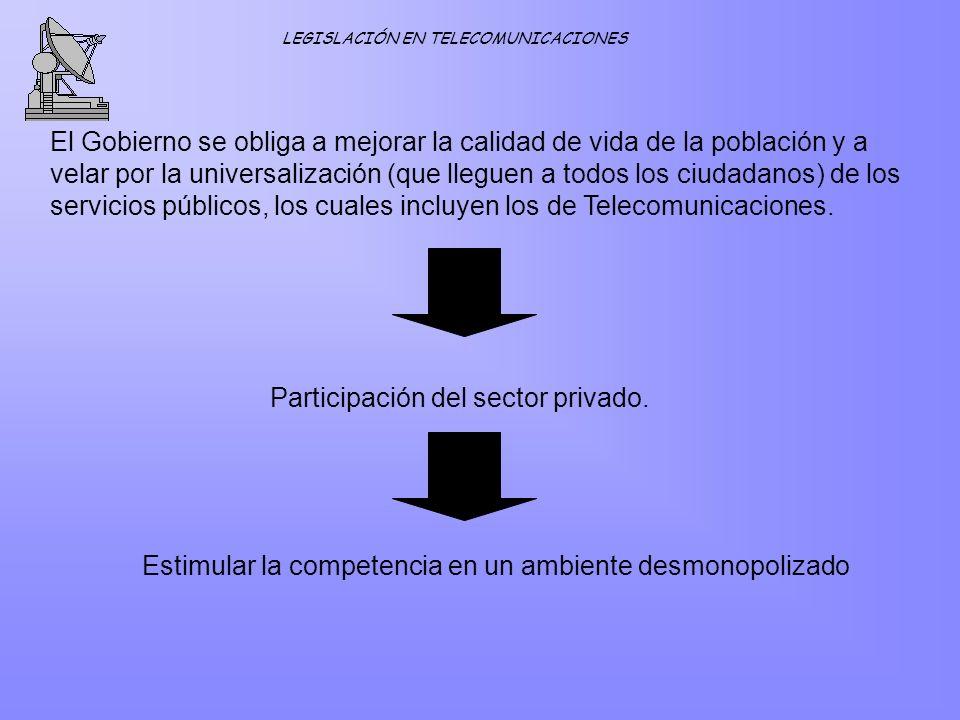 Participación del sector privado.