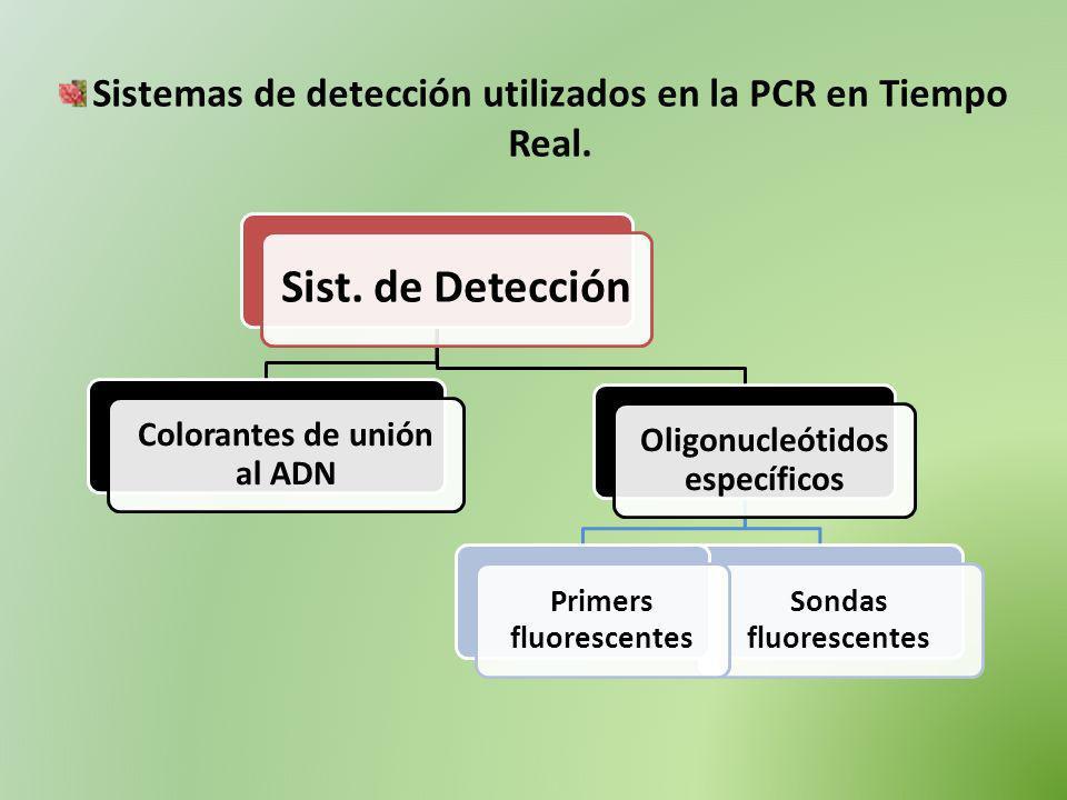Sistemas de detección utilizados en la PCR en Tiempo Real.