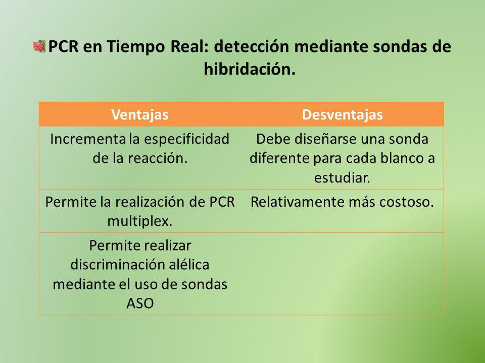 PCR en Tiempo Real: detección mediante sondas de hibridación.
