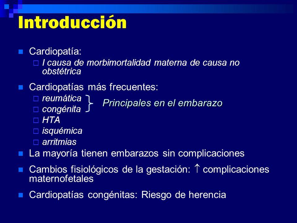 Introducción Cardiopatía: Cardiopatías más frecuentes: