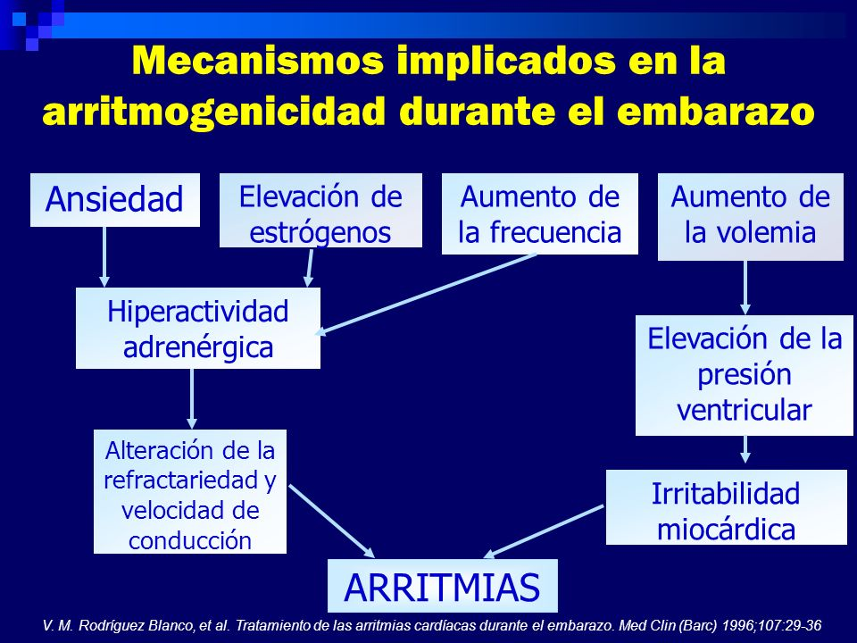 Mecanismos implicados en la arritmogenicidad durante el embarazo