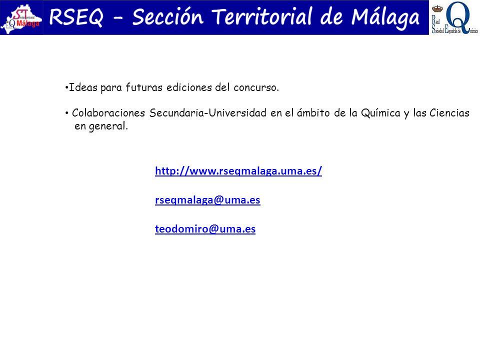 http://www.rseqmalaga.uma.es/ rseqmalaga@uma.es teodomiro@uma.es