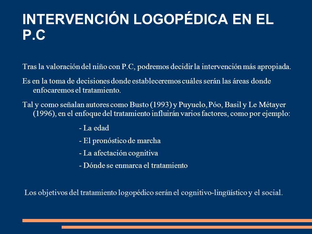 INTERVENCIÓN LOGOPÉDICA EN EL P.C