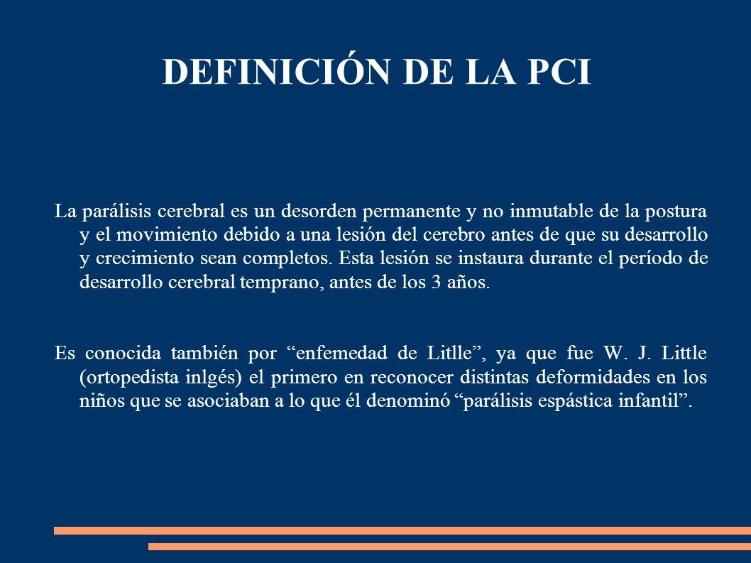 DEFINICIÓN DE LA PCI