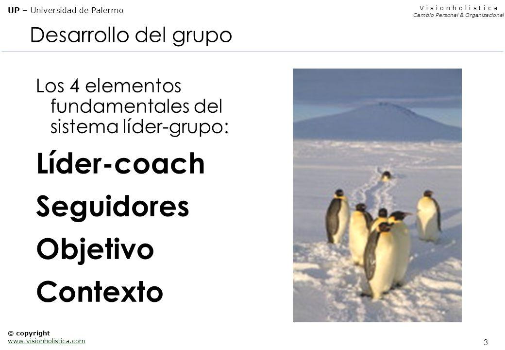 Líder-coach Seguidores Objetivo Contexto Desarrollo del grupo