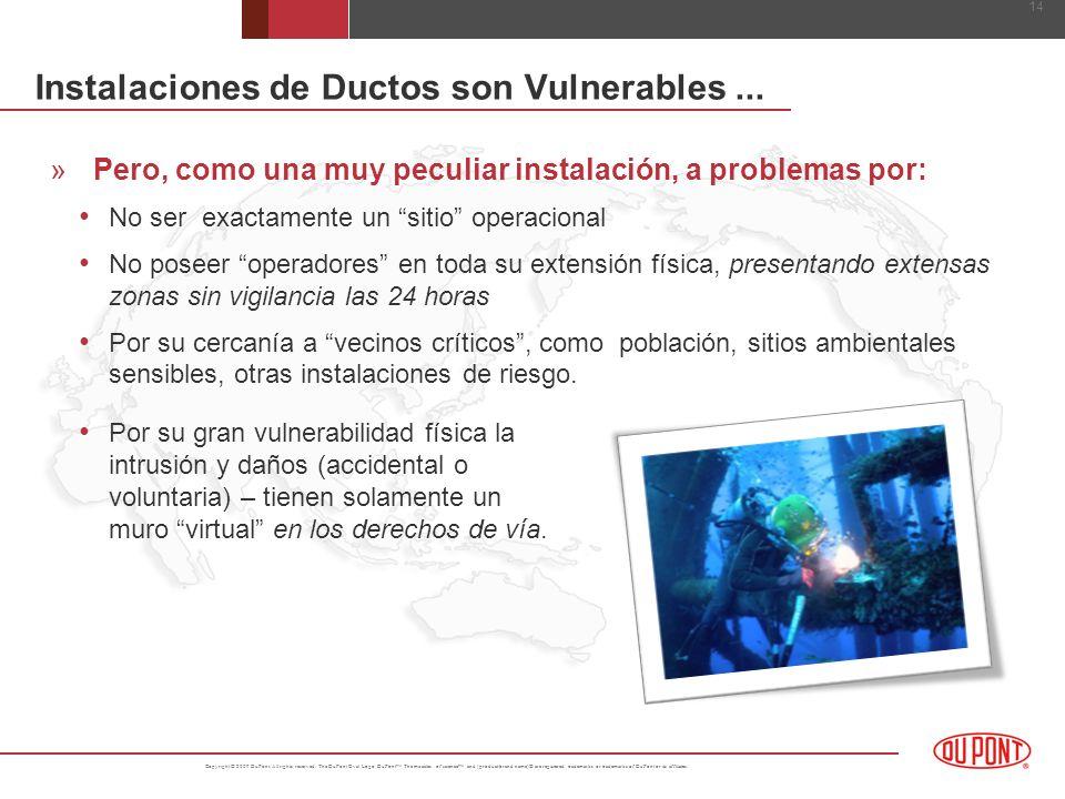 Instalaciones de Ductos son Vulnerables ...