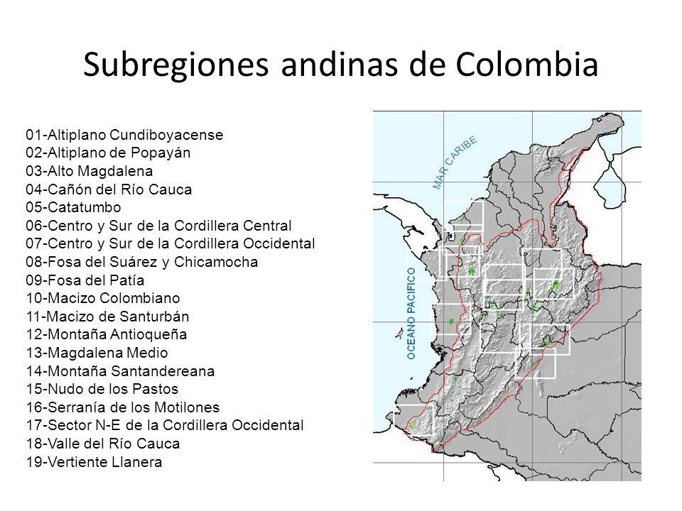 Subregiones andinas de Colombia