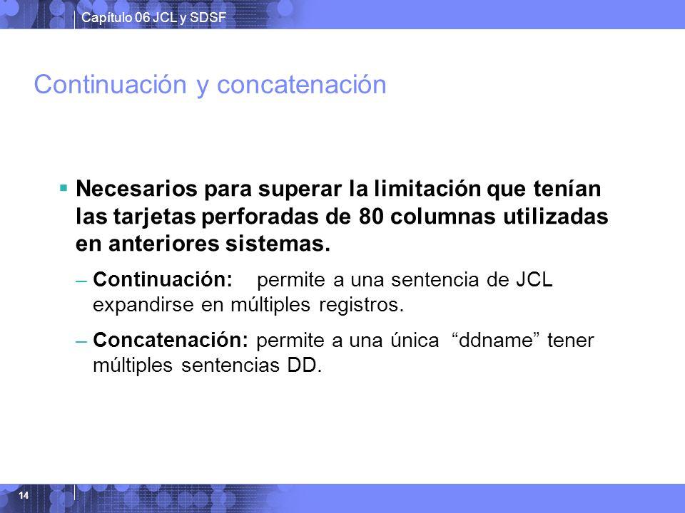 Continuación y concatenación
