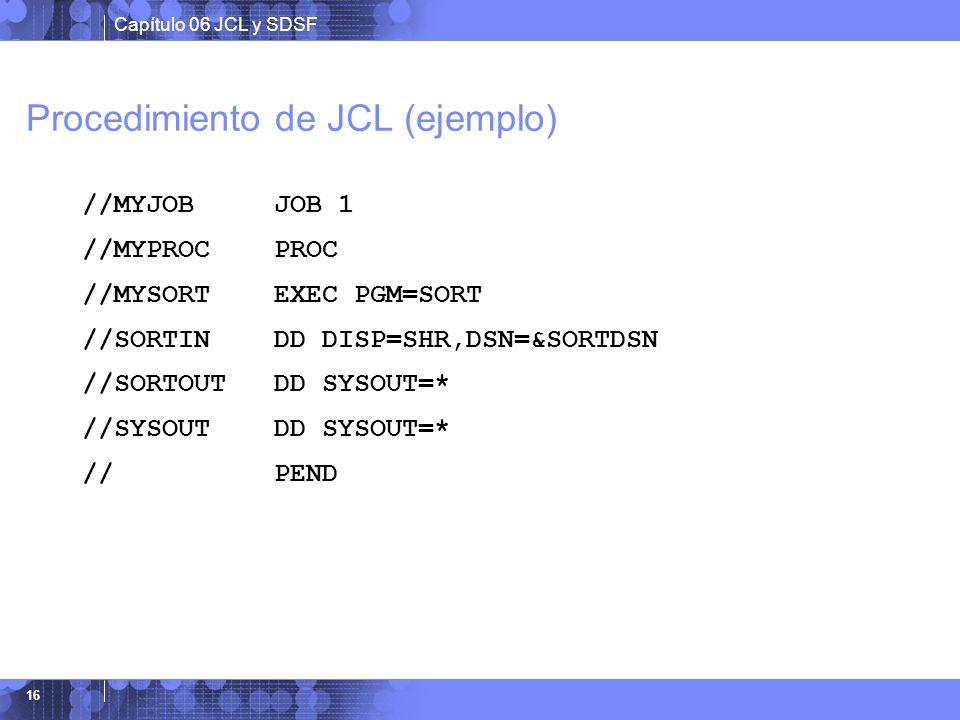 Procedimiento de JCL (ejemplo)