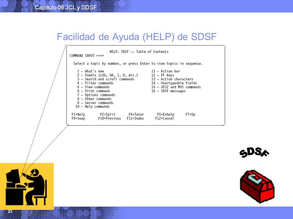 Facilidad de Ayuda (HELP) de SDSF