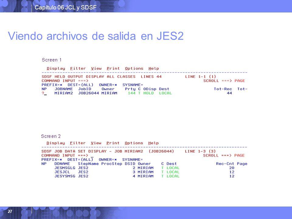 Viendo archivos de salida en JES2