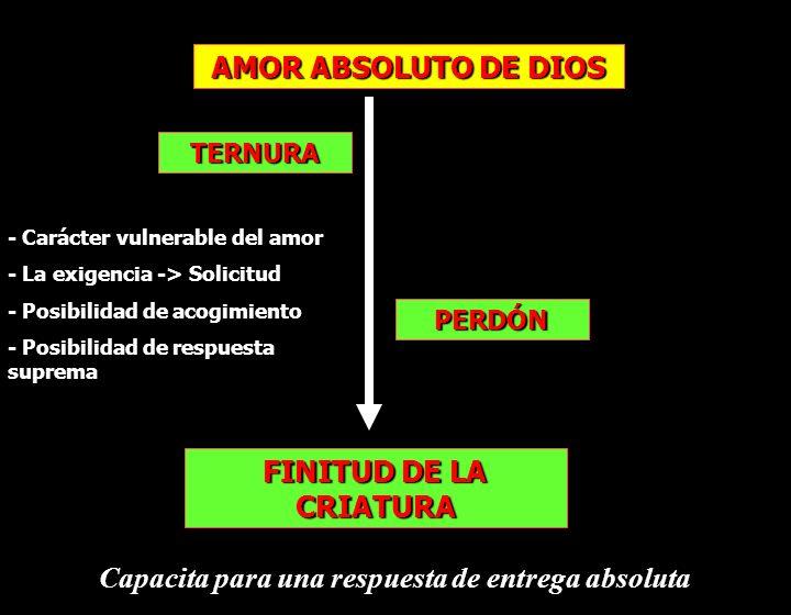 AMOR ABSOLUTO DE DIOS FINITUD DE LA CRIATURA