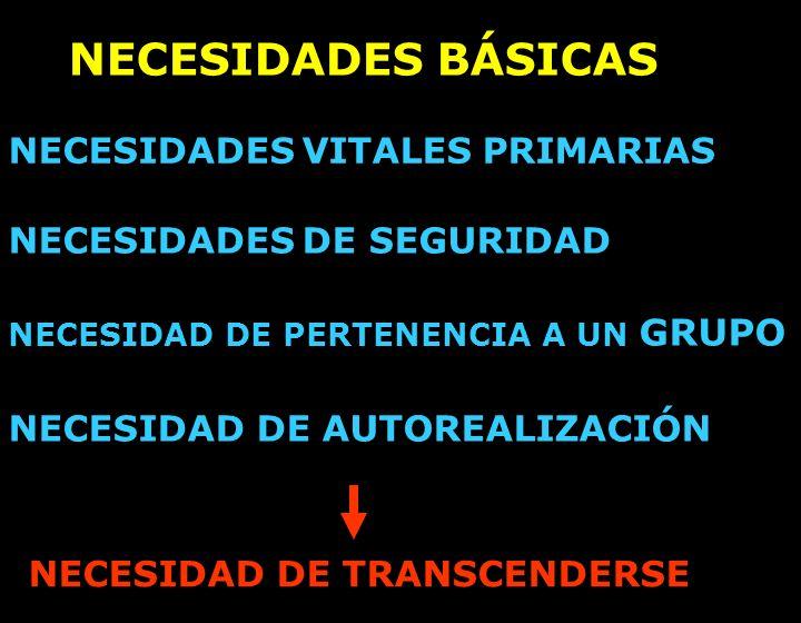 NECESIDADES BÁSICAS NECESIDADES VITALES PRIMARIAS