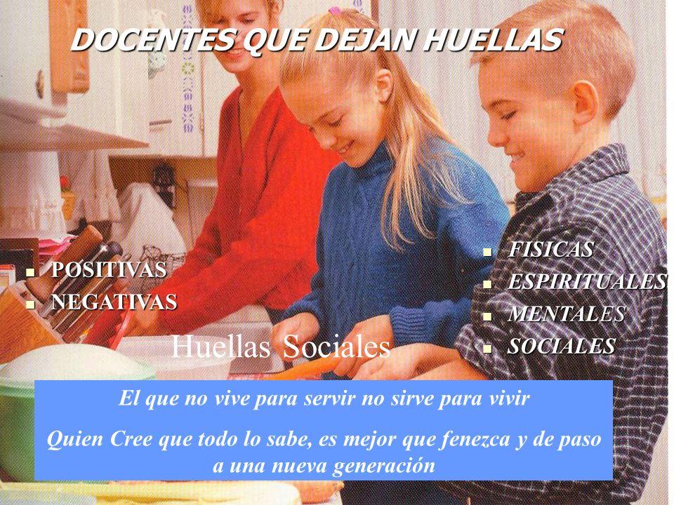 Huellas Sociales DOCENTES QUE DEJAN HUELLAS FISICAS ESPIRITUALES