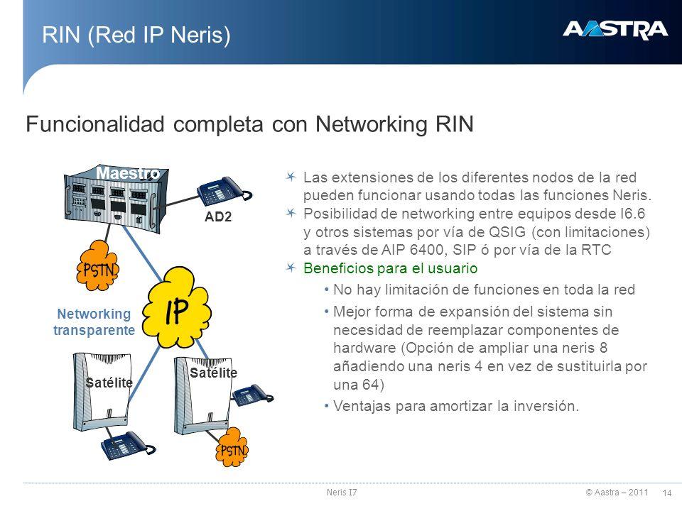 Funcionalidad completa con Networking RIN